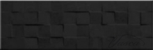 плитка Cersanit Simple Art 20x60 black glossy structure cubes